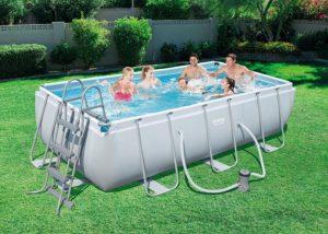 Bestway Power Steel Rectangular Frame Pool Set