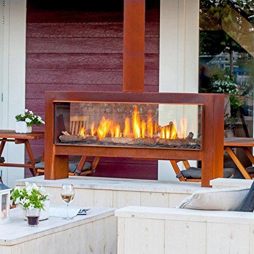 faber themood corten stahl gerostet erdgas leitung h. Black Bedroom Furniture Sets. Home Design Ideas