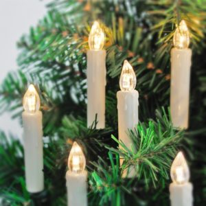 kabellose 20er LED Kerzen [Fernbedienung, Timer und Batterien