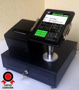 Die I -Pad Mobiles Kassensystem für GASTRONOMIE 7 Bedienerterminal, Bondrucker, Geldlade