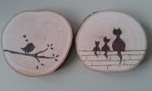 Mit dem Brennpeter auf Holz zeichnen