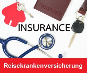 Reisekrankenversicherung Packliste Banner